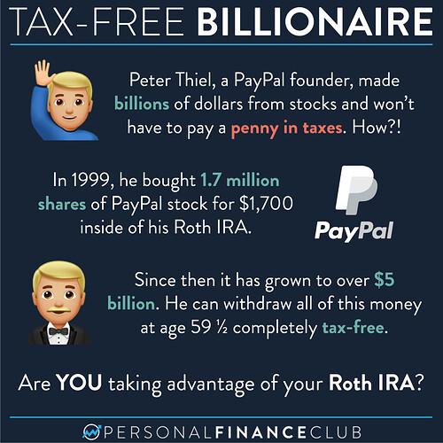 Peter Thiel Tax Free Billionaire